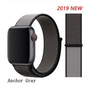 ❤️NEW Anchor Gray Sport Loop Strap For Apple Watch